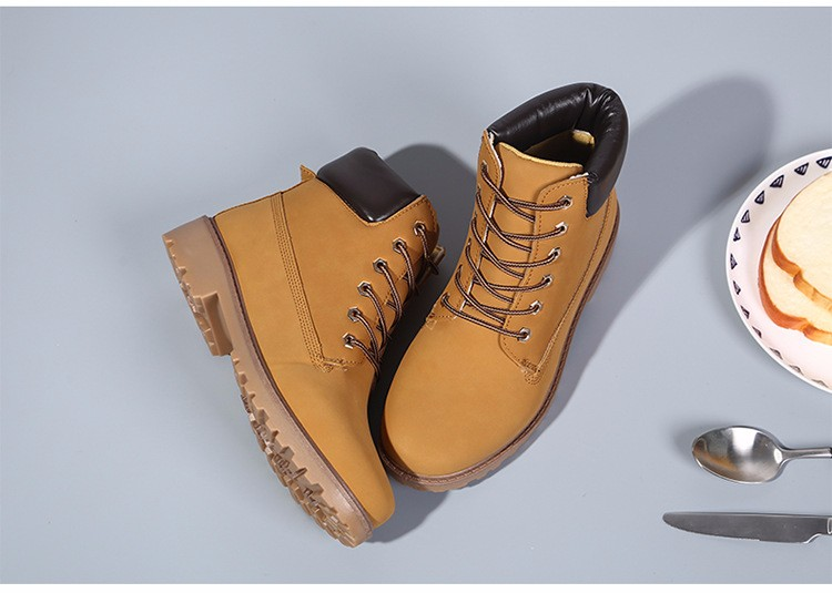 New Arrival Spring Autumn Boots Men PU Leather Unisex Style Fashion Male Work Shoes Lover Martin Boot 23