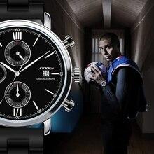 Función de la Marca de Lujo SINOBI Hombres de Cuarzo Reloj Deportivo Impermeable de Los Hombres de Negocios Reloj De Goma Hombre Reloj 2016 Relogio masculino