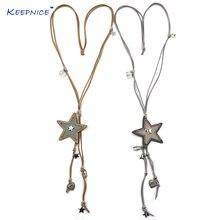 Новый кожаный шнур ручной работы пять звезд пентаграммы Шкентели