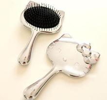 BBSZ005 baby comb with cute cat Silver handheld super bag comb, comb plating(China (Mainland))