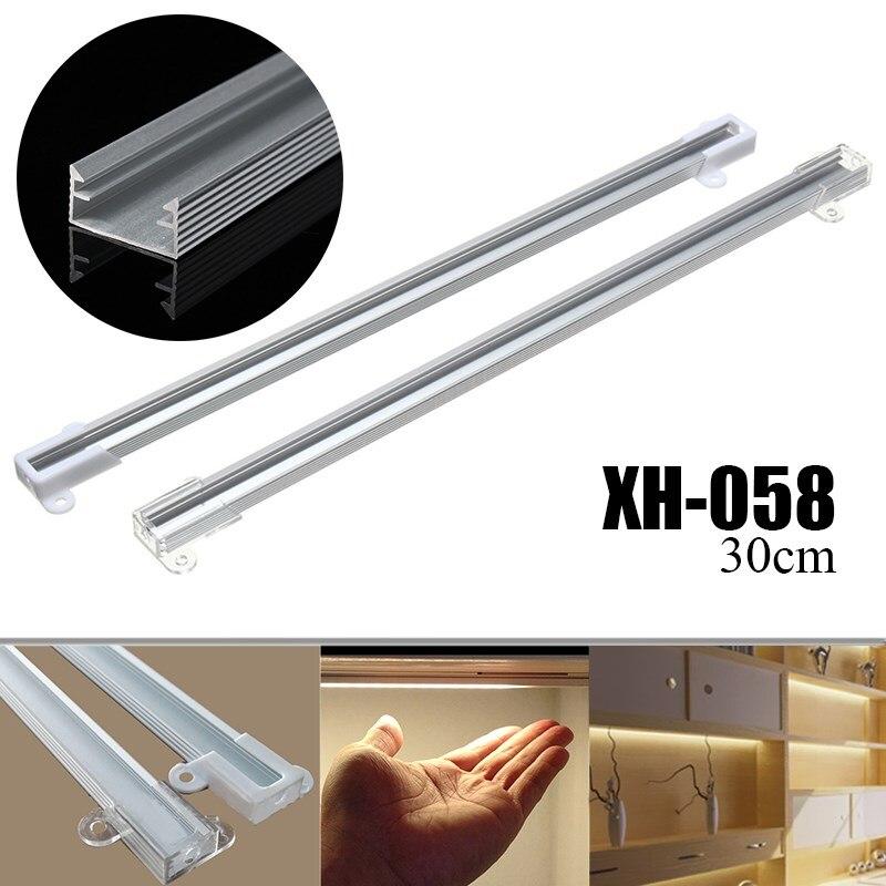 XH-058 30cm LED Bar Light Aluminium Channel Holder Case Shell For LED Strip Rigid Light Bar