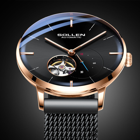 SOLLEN Top Mens Watches Top Brand Luxury Automatic Mechanical Watch Men Full Steel Business Waterproof Fashion Sport Watches Islamabad