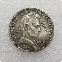 Copy Coin Commemorative Medal Half-Dollar 1918 Illinois-Centennial