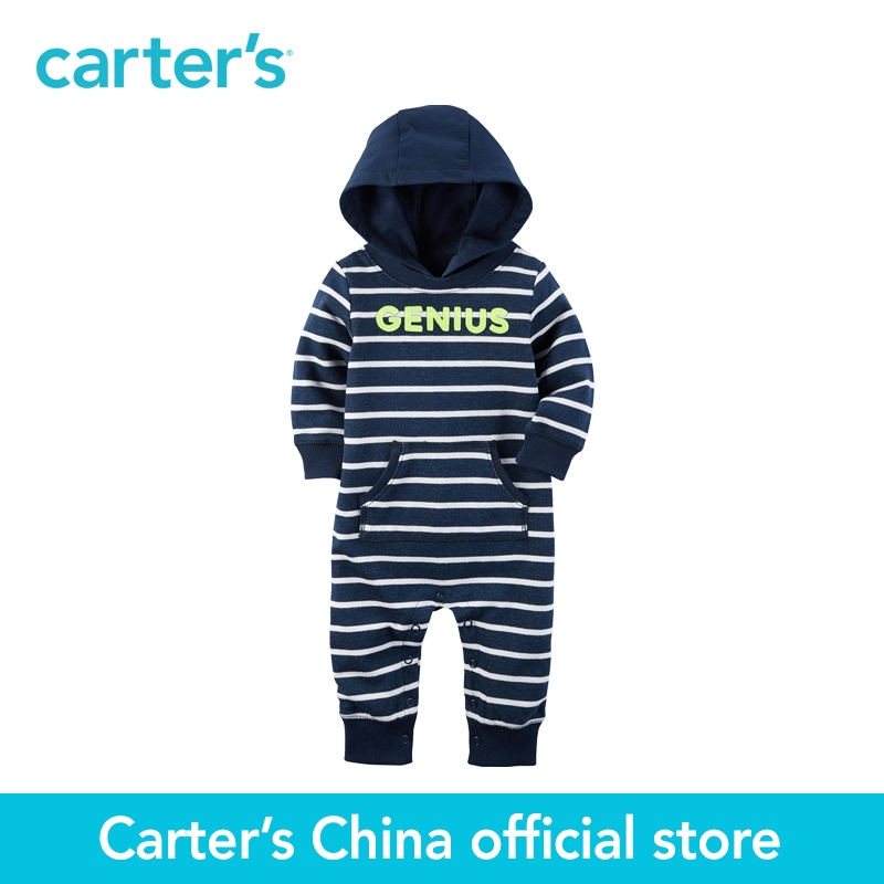 Carter's 1pcs baby children kids Hooded French Terry Jumpsuit 118H001,sold by Carter's China official store la miniatura french terry bottom