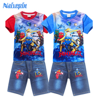 New Boys T Shirts For Summer Kid S Legoes Ninjago Cartoon Short T Shirts Pants Sportsuit