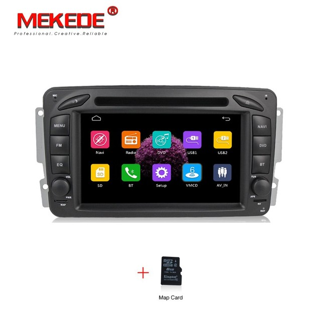 Car tape recorder GPS radio Player for  Benz W203 W208 W209 W210 W463 Vito Viano with GPS Navigation DVD BT 1080p video