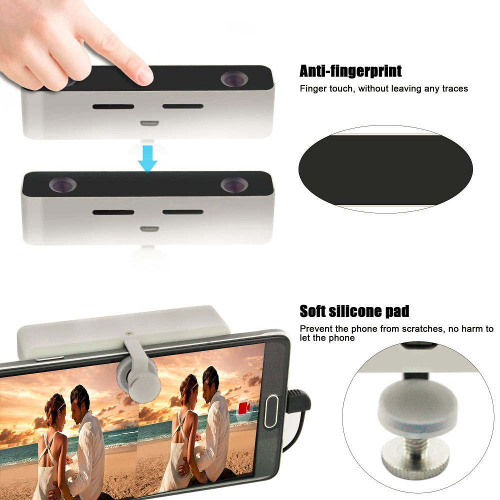 Svpro mini porket camera dual hd len lightweight 720p 30fps 3d camera panoramic 360 for android
