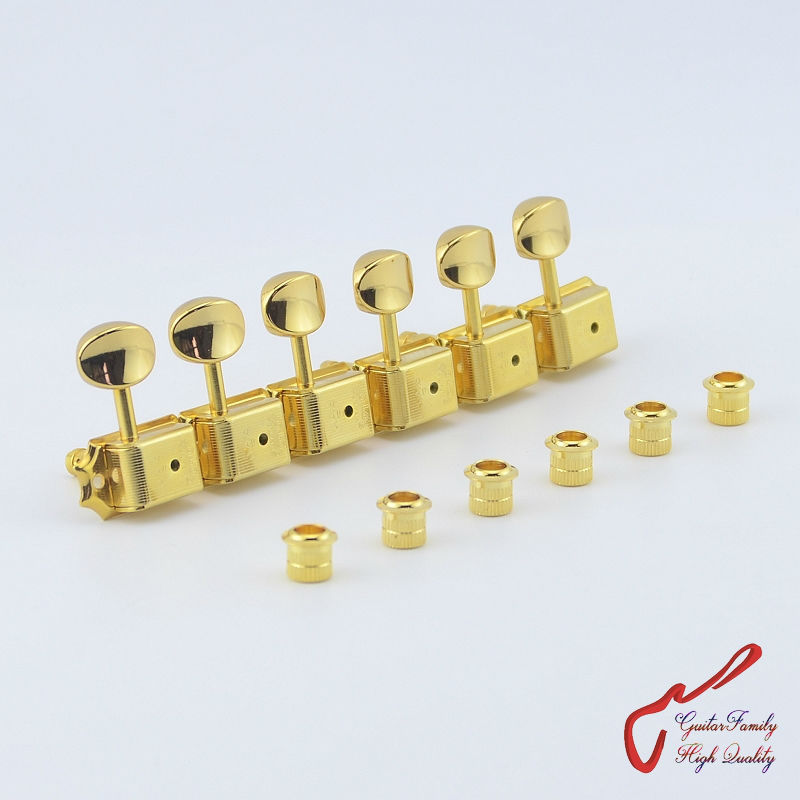 Original Genuine 6 In-line  GOTOH SD91-05M-HAPM  Kluson Vintage  Guitar Locking Machine Heads Tuners  ( Gold ) MADE IN JAPAN 1 set guitarfamily 6 in line kluson vintage guitar machine heads tuners nickel made in korea