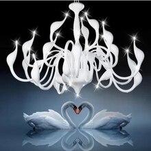 24 лёгкие лебедь люстра из светодиодов современный лёгкие, Серебро / белый / красный 110 В 220 В
