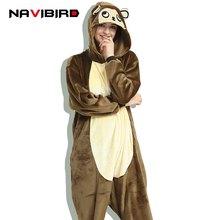 0eb1e8850 Invierno mujeres Onesie Animal pijama mono marrón pijamas partido hombres  adulto Cartoon Kigurumi traje de dormir