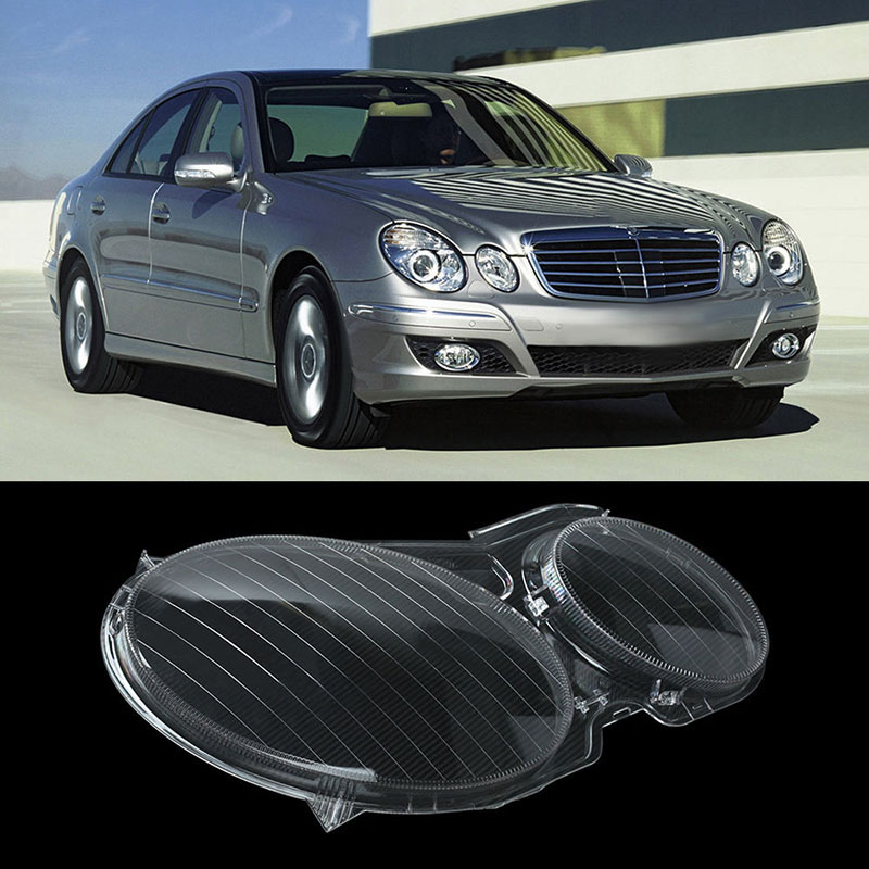 1 Pair High Quality Headlight Headlamp Clear Lens Cover Left & Right For Mercedes Benz E CLASS W211 E320 E350 E280 E300 1 pair car headlight clear lenses lens clear cover left