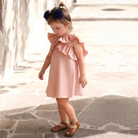 Любимый ребенок новорожденный сладкий модное платье для малышей Обувь для девочек с оборками одежда принцессы Повседневная одежда Лето бу...