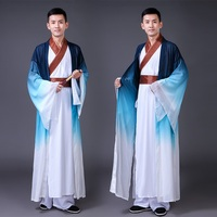 Chinese folk dance costume clothing hanfu ancient fan dance traditional Chinese dance costumes Stage dance wear DD1948
