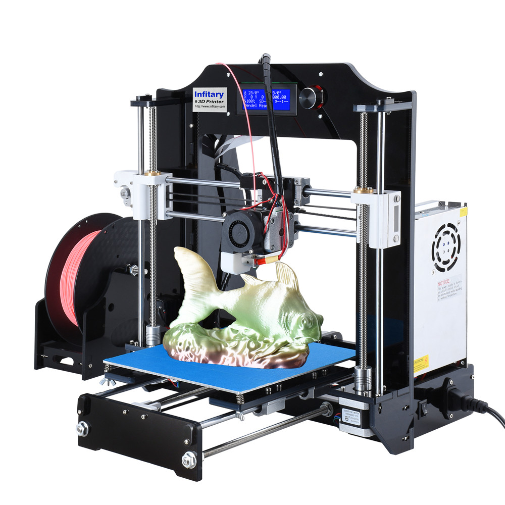 Infitary High Precision Reprap 3d printer kits Acrylic frame impresora 3d Open source Marlin firmware Support refitting high precision createbot super mini 3d printer no assembly required metal frame impresora 3d 1roll filament 1gb sd card gift