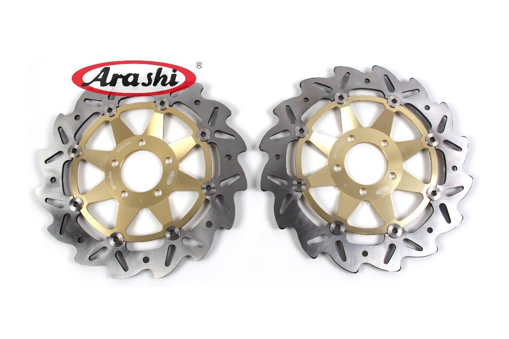 Arashi 2PCS CNC Front Brake Disc Brake Rotors For KAWASAKI ZZR 600 1990 1991 1992 1993 1994 1995 1996 1997 1998 1999 Motorcycle cnc motorcycle front brake disc for kawasaki eliminator 600 1995 1996 1997 1998 1999 zzr 250 1992 brake disk rotor