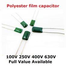 PCS 250V 2E223J 20 2E222J 2E472J 2E683J 2E104J 4.7/2.2/22/100/68NF 0.1/0.0022/0.0047/0.022/0.068/UF Capacitor de Filme de Poliéster 223