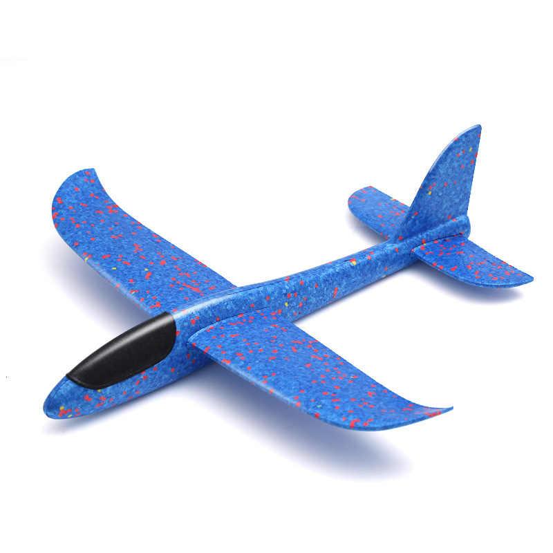 Anak-anak Mainan Tangan Melemparkan Pesawat Anak Olahraga Luar Ruangan Epp Terbang Glider Model Besar Busa Pesawat Tahan Breakout Pesawat T0707