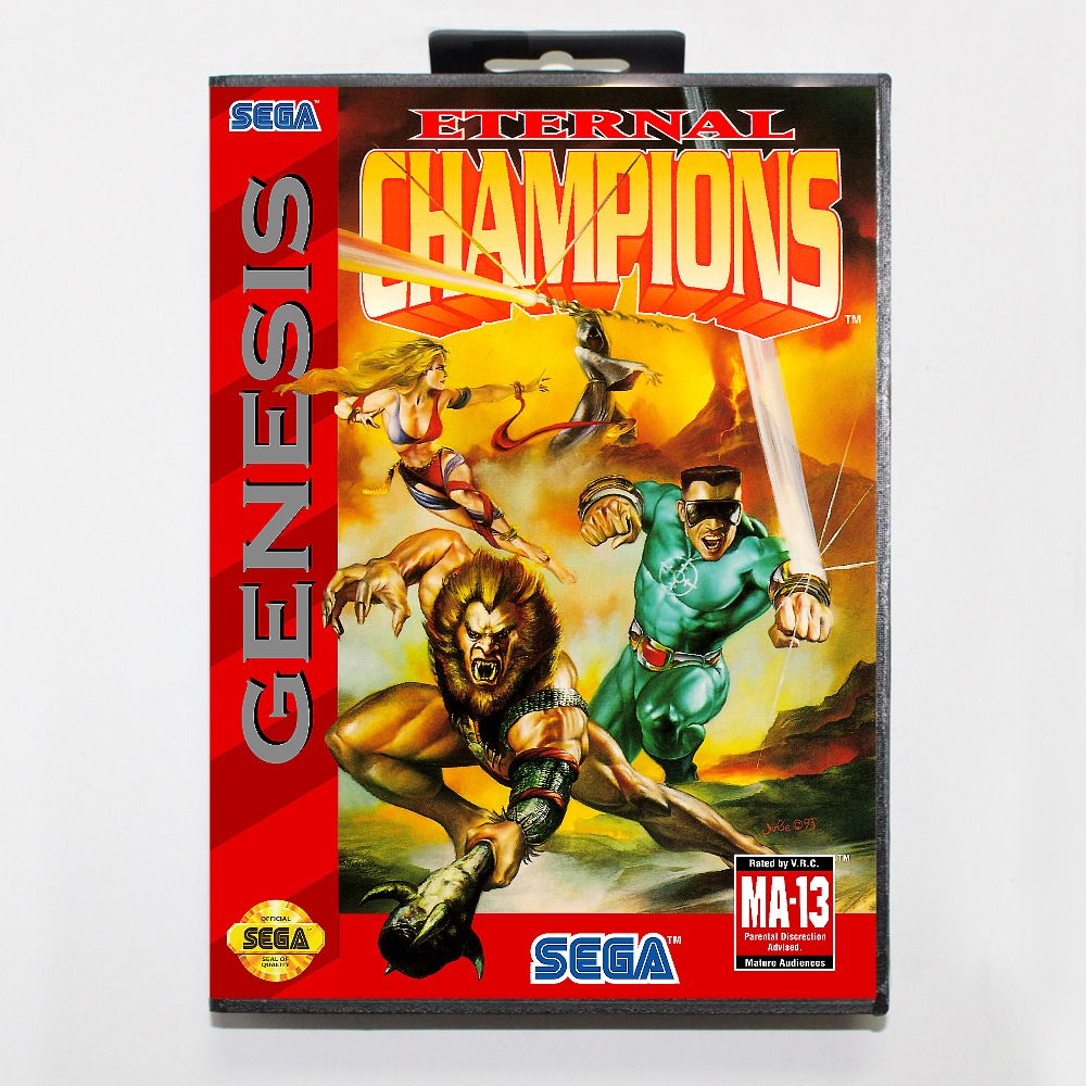 New 16 bit MD game card - eternal champions with Retail box For Sega genesis system