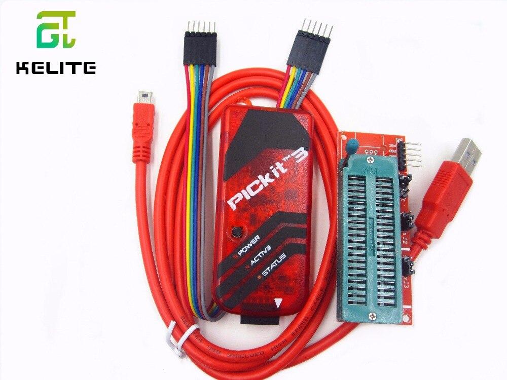 PICKIT3 Programmer PIC ICD2 PICKit 2 PICKIT 3 Programming Adapter Universal Programmer Seat FZ0508 TIEGOULI