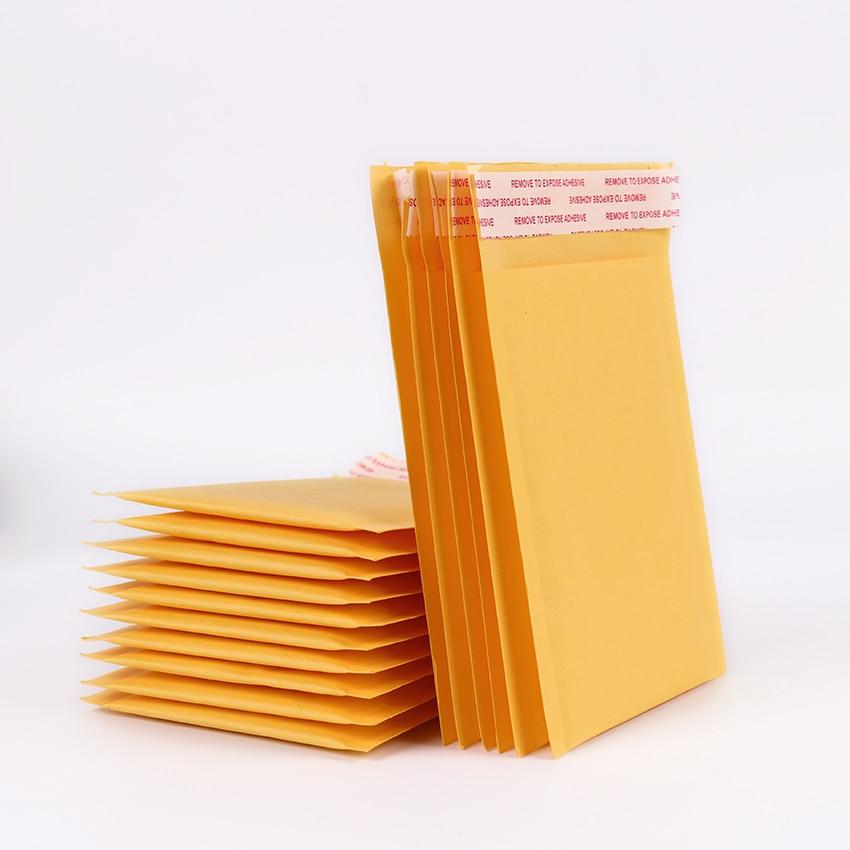 Мм 5 шт. 130*110 мм Пузырьковые Конверты Сумки почтовых отправителей Мягкий почтовый конверт Kraft бумага пузырьковый почтовый пакет хрупкие пост...