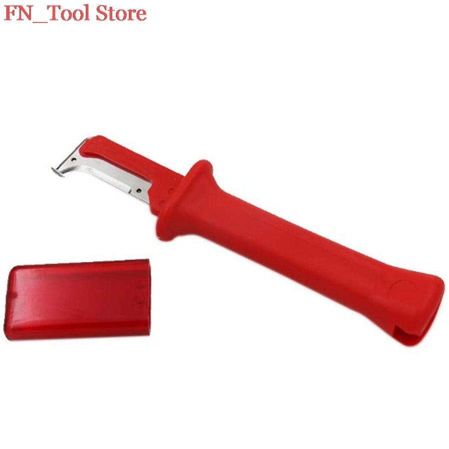 FASEN 31HS Style Allemand Câble Couteau À Dénuder Brevet outils de Décapage Decustation Pince Lame Longueur 38mm Total