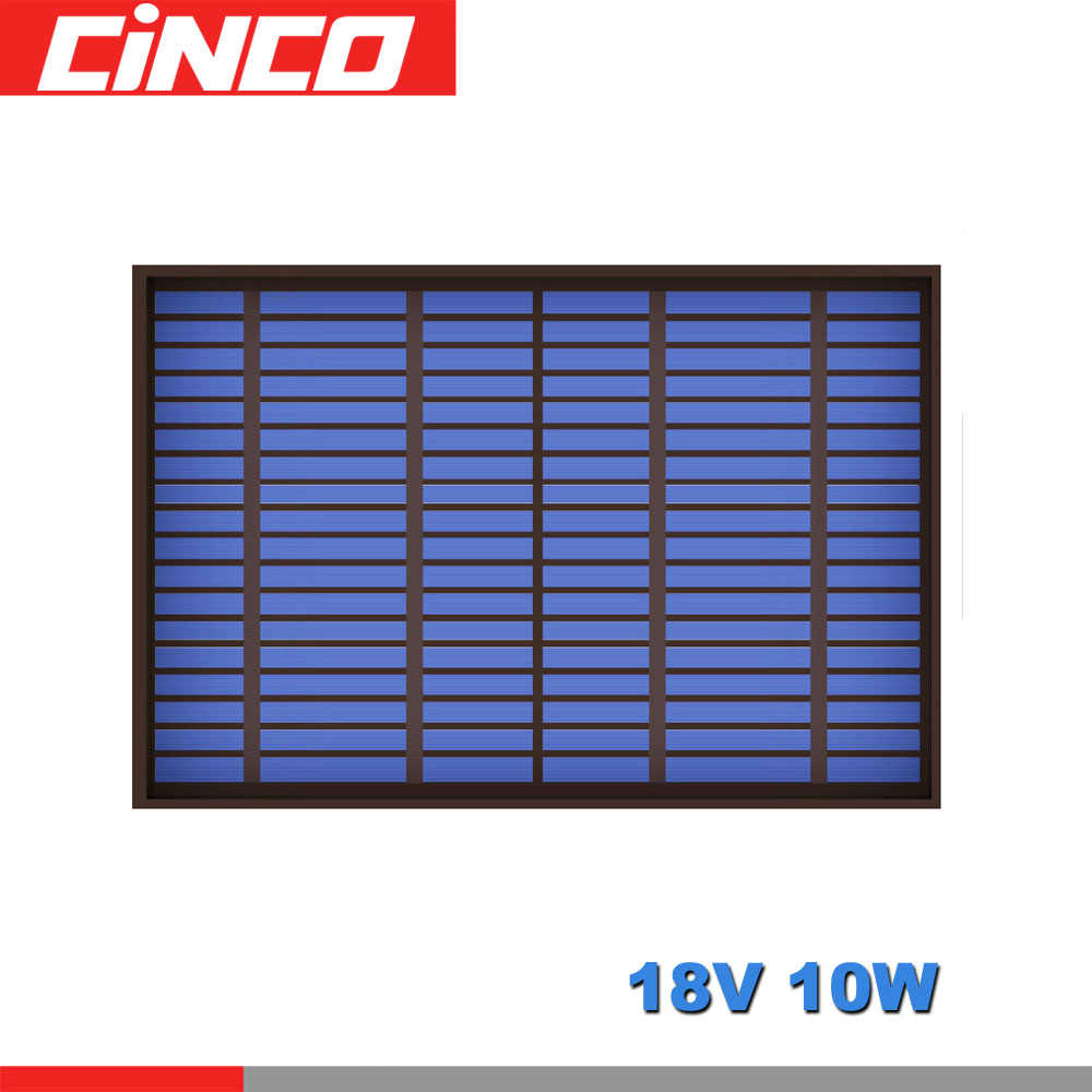 18V 556mA 10Watt 10W Poly Panel Solar Standard PET monocrystalline Silicon charge for 12V Battery Charge Module Mini Solar Cell