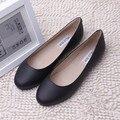 100% Genuine Leather Womens Flats Shoes Woman Ballet Flat Shoes Fashion Cowhide Ladies Casual Shoes Black Leather Shoes C-820