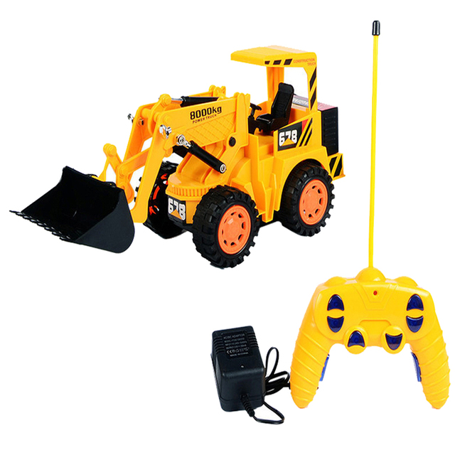 Happy Cherry Wireless Remote Control Kid toy car large engine vehicles truck gear digging machine truck RC contruction excavator