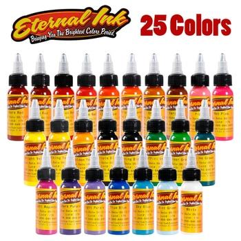25 Bottle 1oz Tattoo Ink Pigment Set Kits Body Arts 30ml black Professional Beauty Permanent Makesup Paints Accesories