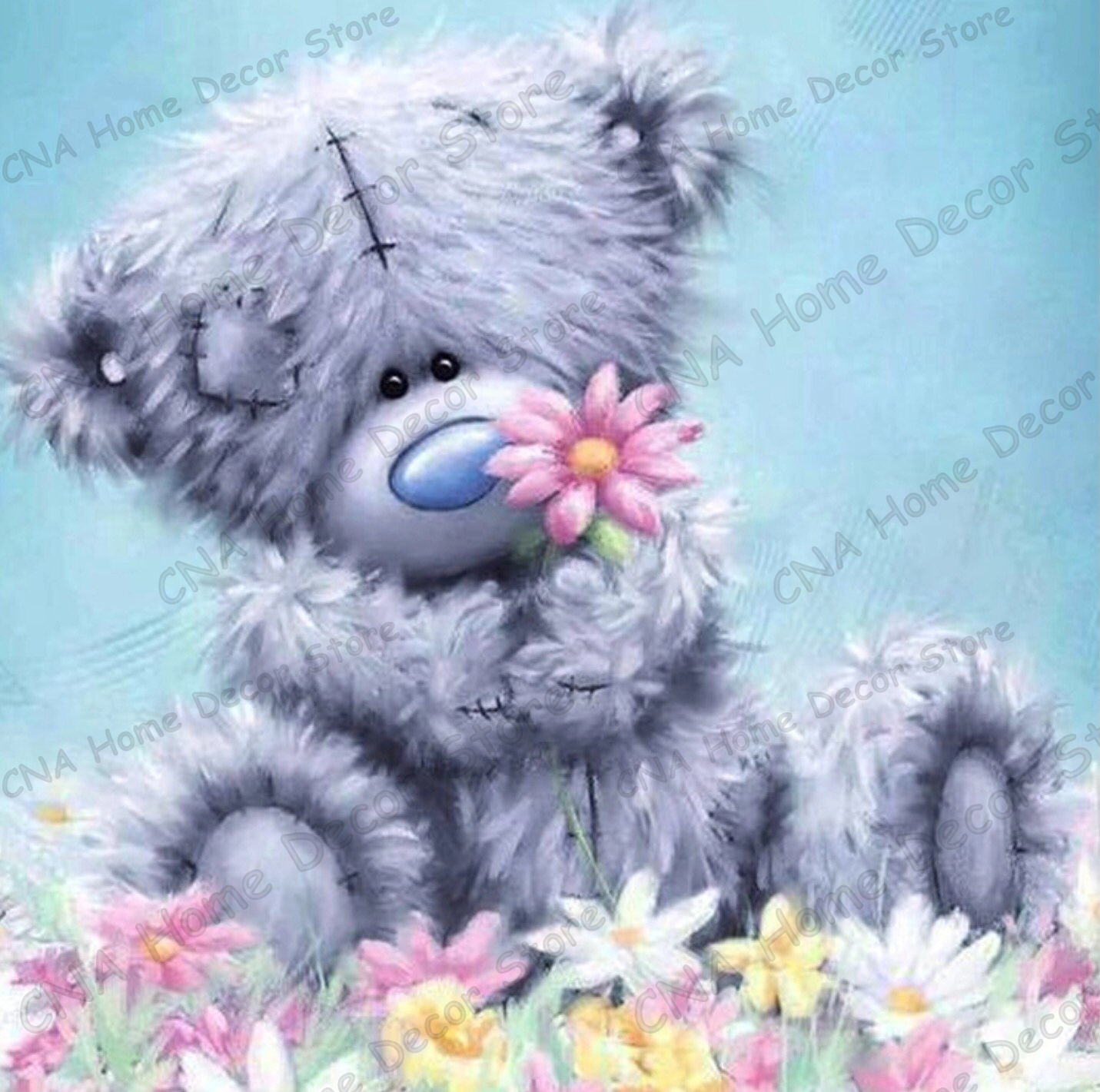 Bear Wall Stickers Cute Bear Full Mosaic Painting Drill Resin 5d Diy Diamond