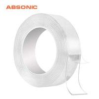 3 м прозрачный двусторонний клей нано-лента бесследная моющиеся съемные ленты для помещений на открытом воздухе гелевая ручка клейкая мног...