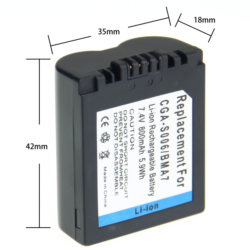 1Pcs CGA-S006E CGRS006A CGR-S006E CGR-S006A/1B BP-DC5U Rechargeable Camera Li-ion Battery For PANASONIC BP-DC5-E татьяна веденская ежики или мужчины как дети
