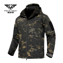 Men Tactical Jacket Shark Soft Shell Military Hooded Coat Man Waterproof Windproof Army Fleece Clothing Camouflage Windbreaker цены онлайн