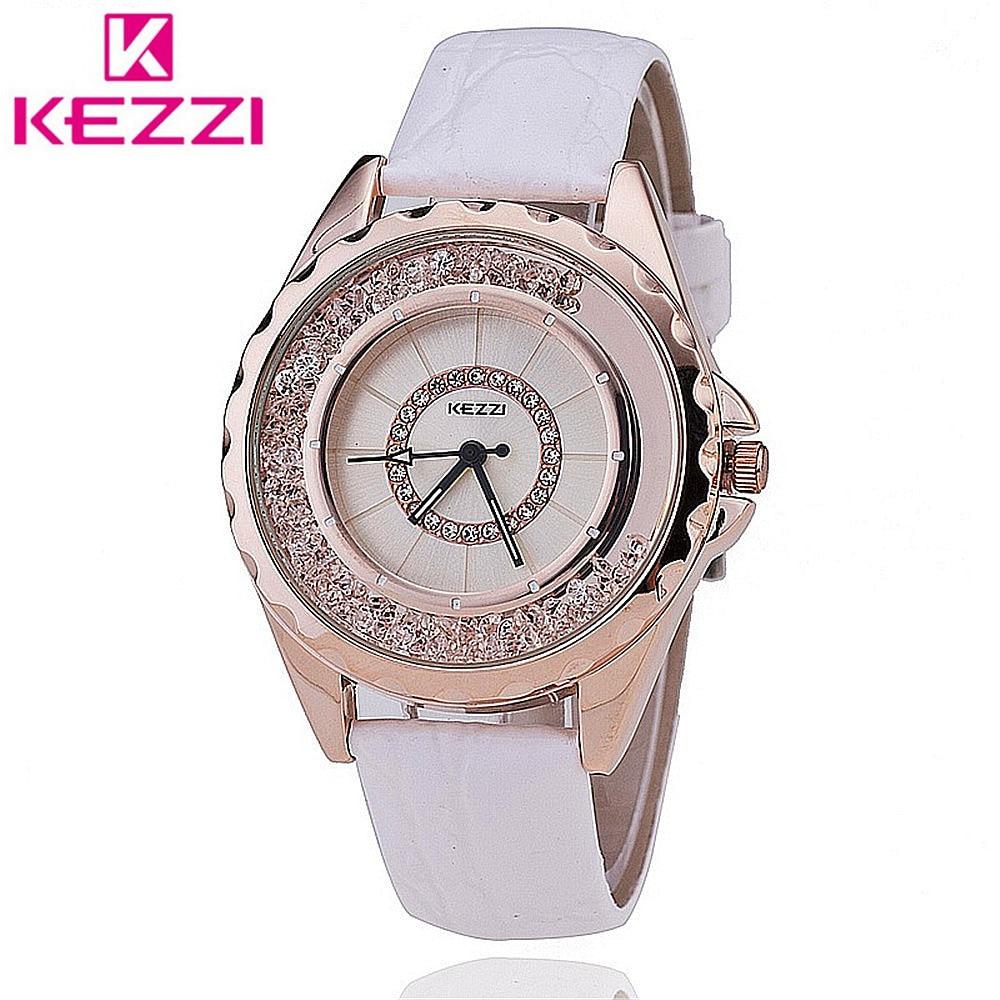 KEZZI Watch K742 Women Leather Strap Quartz Watch Casual Watch relogio feminino Japan PC Movement