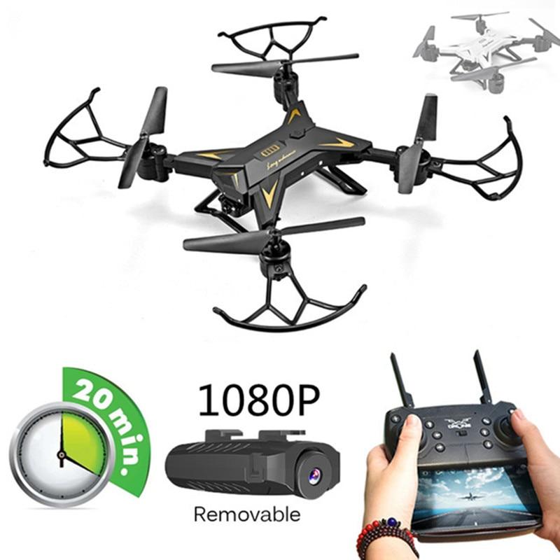 Novo Helicóptero RC Zangão Câmera HD 640 P/1080 P WI-FI FPV Zangão Selfie Profissional Dobrável Quadcopter 20 Minutos vida Útil da bateria