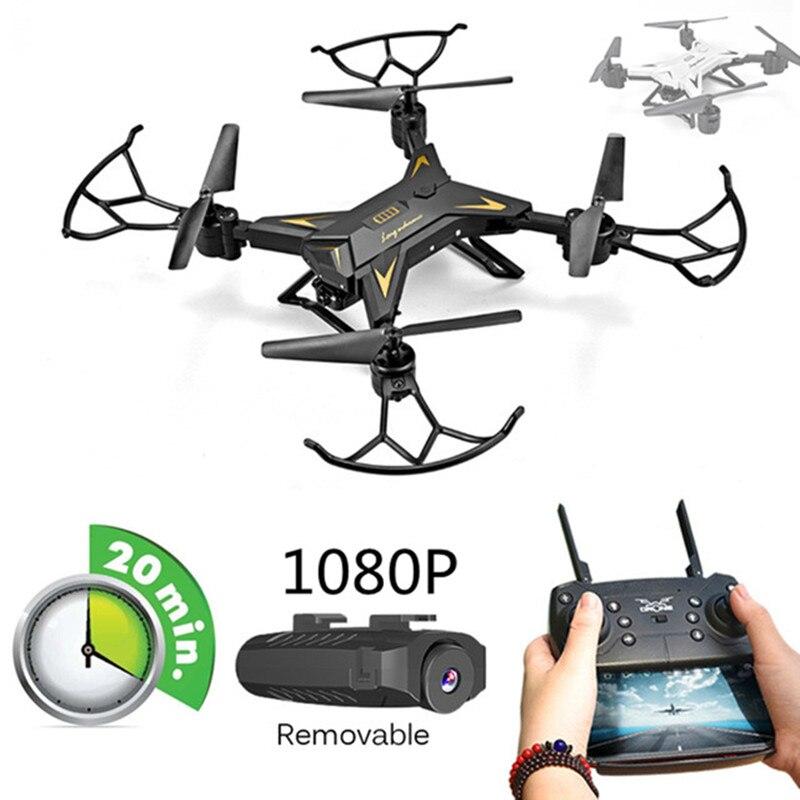 Nuevo helicóptero RC Drone con cámara HD 640 P/1080 p WIFI FPV Selfie Drone profesional plegable Quadcopter 20 minutos de duración de la batería