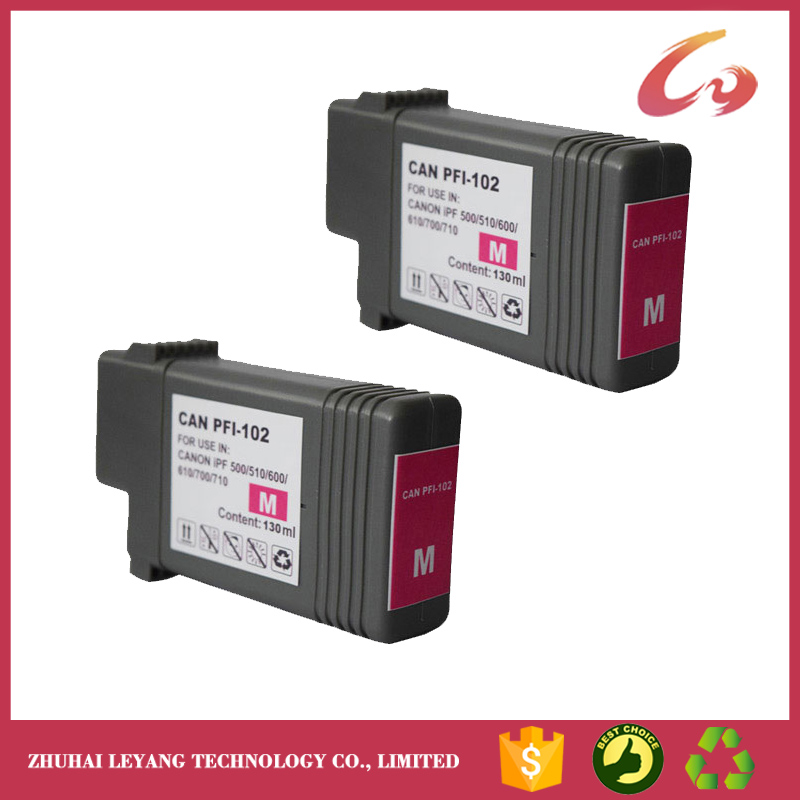 PFI-102C Cyan Compatible Canon ipf 500 510 600 605 700 710 720 INK cartridge