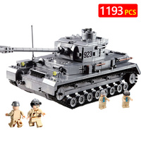 Technic Blocks Compatible Legoed Ww2 City Police Military World War II Tiger Tank Weapons Armored Vehicle Bricks Toys For Boys