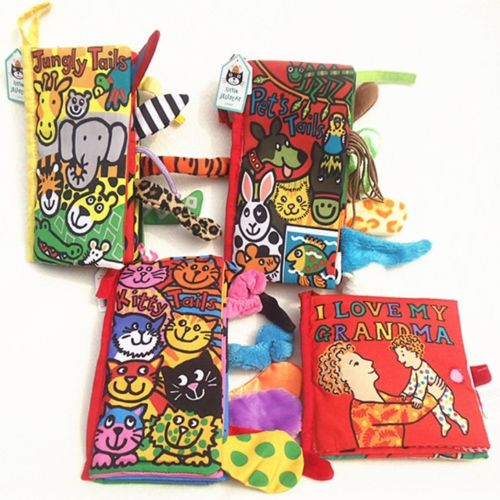Toddler Kid Animal Tails Cute Colorful Charming Fabric Cloth Books Educational Development Newborn Infants Toys
