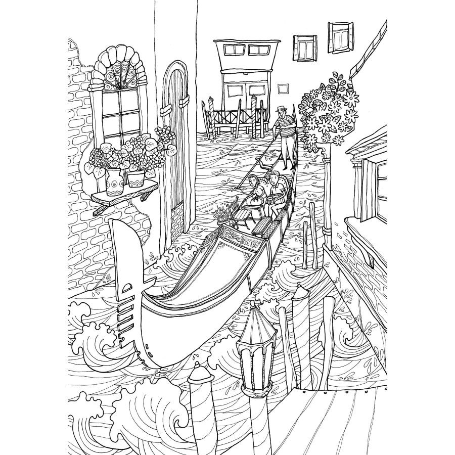 Free coloring pages italy - Coloring Pages Italy 72 Pages Italy Travel Coloring Book For Children Adult Kids Relieve Stress