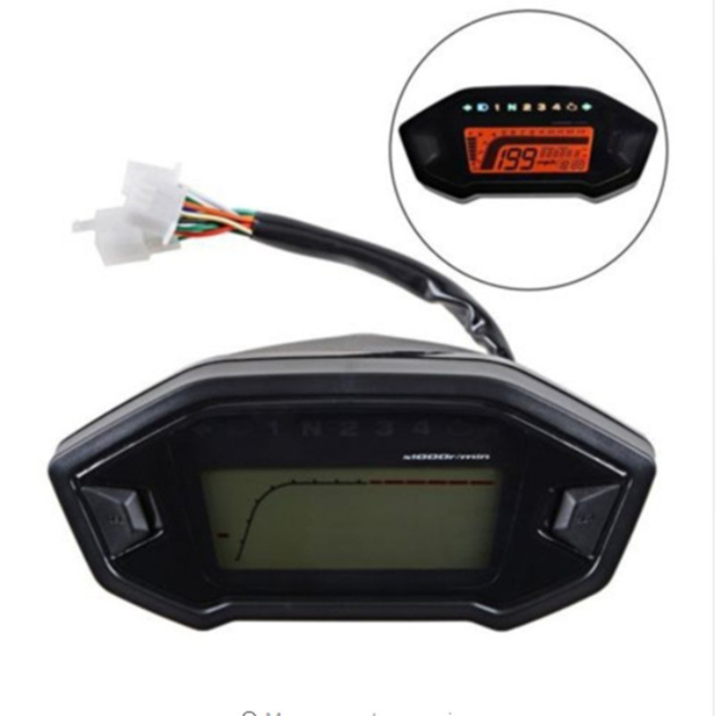 Image 3 - Universal Motorcycle LCD Digital 13000rpm Speedometer Backlight Motor cycle for 2 4 Cylinders meter Odometer Dropshipping-in Instruments from Automobiles & Motorcycles