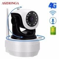 1080 P HD 4G 3g PTZ Беспроводная sim карта IP Камера батарея WiFi P2P CCTV детские дома видеонаблюдения Аудио ИК ночного видео Камера