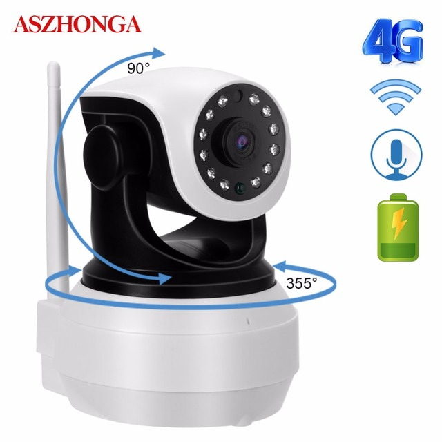 1080P HD 4G 3G PTZ Wireless SIM Card IP Camera WiFi Battery P2P CCTV Baby Home Security Surveillance Audio IR Night Video Camera