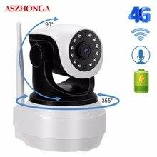 3G 4G SIM Kart IP Kamera 1080P HD Kablosuz Bebek Ev wifi güvenlik kamerası IR Gece Görüş CCTV Gözetleme 2 yönlü Ses