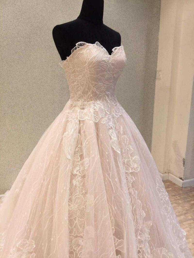 Nyaste Bröllopsklänning 2018 Vintage Lace Bride Dresses Korsett - Bröllopsklänningar - Foto 4