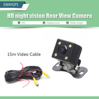HD CCD 4 LED Night Vision Universal Rear View Reversing Parking Camera For Android Car DVD