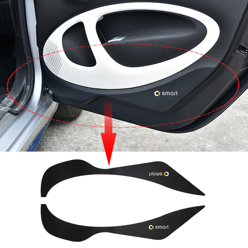Car Door Protection Sticker Car Styling Anti-scratch Modification Accessories Carbon Fiber Texture Decoration For New Smart 453