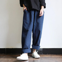 ZANZEA New 2018 Summer Women Harem Pants Stripe Casual Loose Trousers Pantalon Femme Elestic High Waist