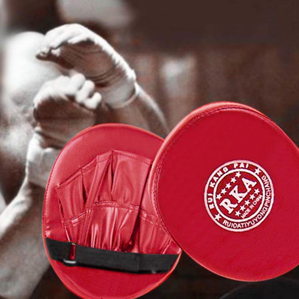Black gloves at target - Sanda Martial Muay Thai Kick Kit Black Karate Training Mitts Focus Punch Pads Gloves Mma Sparring Boxing Bags Defense Target