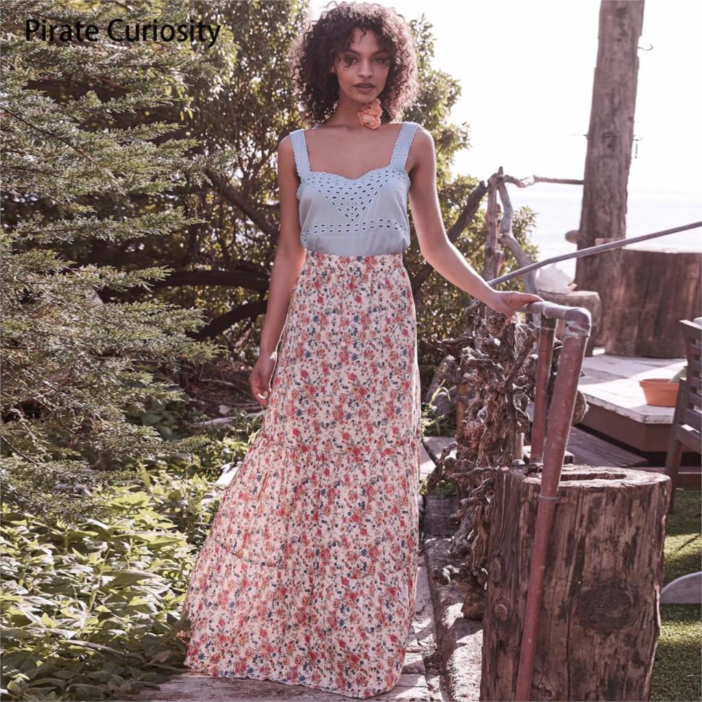 Aliexpresscom Comprar Pirate Curiosidad Maxi faldas para las mujeres del largo de la falda del verano-2674